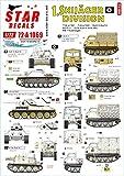 スターデカール 1/72 第二次世界大戦 ドイツ軍 第1スキー猟兵師団 T-34m/41 T-34m/43 III号突撃砲G型/RSO1/グリーレH型キューベルワーゲン プラモデル用デカール SD72-A1069