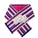 アイスクールタオル 暑さ対策グッズ ポケット付マフラータオル(保冷剤付) ストライプ柄 ピンク