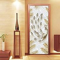 Mingld ヨーロッパスタイルの高級3DエンボスゴールデンリーフフォトウォールドアステッカーリビングルームホテルPvc防水壁紙ビニール壁画-150X120Cm
