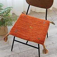 座布団 サイズ ミニ ウール SW01 オレンジ サイズ 約 40×40 cm 幾何学模様 輸入 マット
