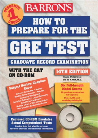 Download Barron's How to Prepare for the Gre: Graduate Record Examination (Barron's How to Prepare for the Gre Graduate Record Examination) 0764174711
