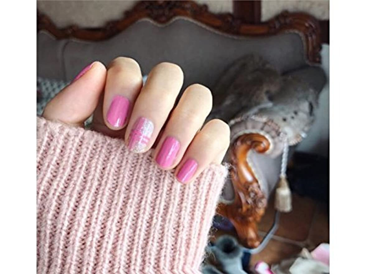 横日の出化学者Osize ファッションウォーターマーク美しい先端ネイルアートネイルステッカーネイルデカールカービングネイルステッカー(ピンク)