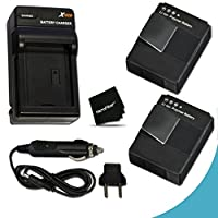 2 High Capacity Batteries Replacement of GoPro AHDBT-301 Lithium-ion Battery with AC/DC Quick Charger Kit for GoPro Hero3+ Digital Camera [並行輸入品]