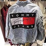 「トミーヒルフィガー」-(tommy hilfiger jeans) メンズ デニム ジャケット 男女兼用  レディース  ジーンズ 春秋 パーカー  濃いブルー/薄いブルー コート 学生 大人 社会人 ファックション 人気 かっこいい カップル 通勤通学 (M, 薄いブルー) [並行輸入品]