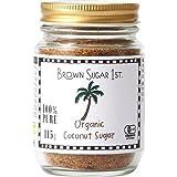 オーガニック ココナッツシュガー 115g 瓶タイプ (有機 化学調味料無添加 100% 天然 ブラウンシュガーファース…