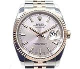 ROLEX ロレックス デイトジャスト Ref116231 D番 SS/K18PG 自動巻き ピンク文字盤 メンズ腕時計【中古】[iz]