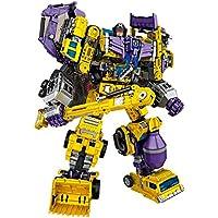 JQ trend おもちゃ 変形 ロボット 重機合体ロボ 6体合体でロボに 6体セット (イエロー)