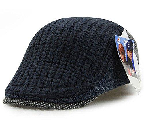 ハンチング帽 欧米 紳士 ニットハンチング オシャレ カジュアル UVカット アウトドア blue