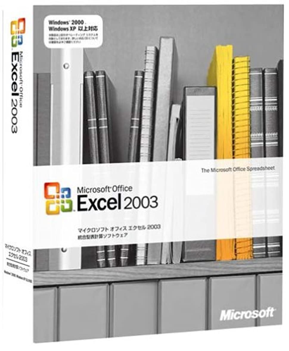 王朝身元ビジュアル【旧商品/サポート終了】Microsoft  Office Excel 2003