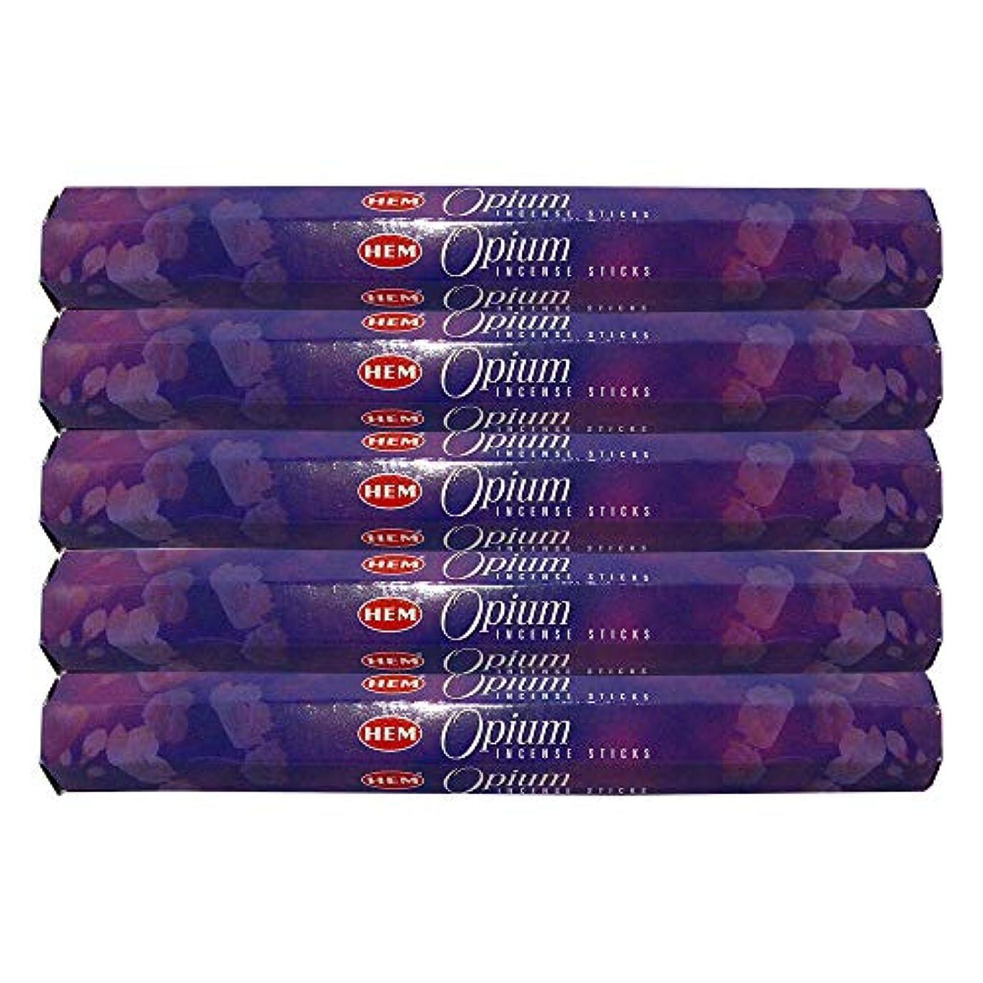 外部かすれた電話するHem Opium 100 Incense Sticks (5 x 20スティックパック)
