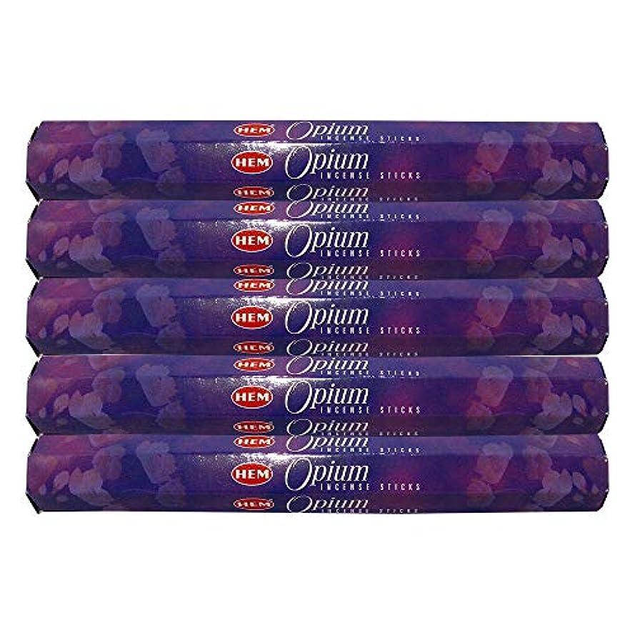 対話受け入れた誕生日Hem Opium 100 Incense Sticks (5 x 20スティックパック)