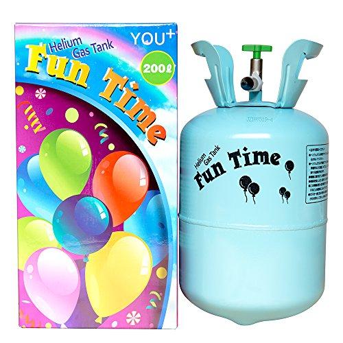 YOU+ ヘリウムガス バルーン・風船用 使い捨て ヘリウム缶 補充用 (200L)