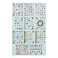 Decdeal ネイルシール ネイル・アートステッカー クリスマスデザイン かわいい スノーフレーク