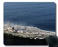 ステッチエッジ付きマウスパッド、軍用USS Ronald Reagan(CVN 76)軍艦滑り止めラバーマウスパッド