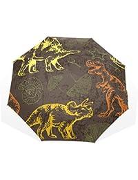 AOMOKI 折り畳み傘 折りたたみ傘 手開き 日傘 三つ折り 梅雨対策 晴雨兼用 UVカット 耐強風 8本骨 男女兼用 恐竜 カラフル