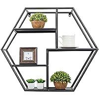 Super Kh® バーリビングルームの壁掛け棚の立方の本棚ベッドルームの本棚収納棚 * (色 : 黒)