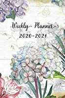 Weekly and Monthly Planner 2020-2021: Floral Design Organizer and Notebook | Perfect Gift for Girl Women Friends and Colleagues