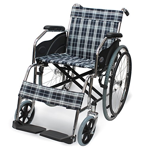 ケアテックジャパン 自走式 スチール製 折りたたみ 車椅子 ウィッシュ CS-10...
