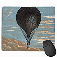 """Vintage French Hot Air Balloon Advertisement Mouse Pad Non-Slip Rubber Gaming Mouse Pad Rectangle Mouse Pads for Computers Desktops Laptop 9.8"""" x 11.8"""""""
