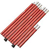 【2本セット】ザキャンパー アルミポール 長さ 120~270cm (60cm×4節+30cm節) 直径28mm 赤 RED