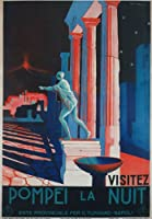 "tv90ヴィンテージ1930õs Pompeiイタリアナポリイタリア旅行ポスターre-print – a1 a2 a3 A3 (420 x 297mm) 16.5"" x 11.7"" TV90A3"