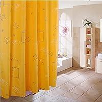 シャワーカーテンのバスルーム、ポリエステル不透明防水カビ浴室ブラインドカーテンコード断熱材 200x200cm(79x79inch) LJIFVUSDGHVBV