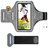 JETech Cell Phone Armband Case for Apple iPhone 11/11 Pro/XR/XS/X/8 Plus/7 Plus/8/7/6s/6, Samsung Galaxy S10/S9/S9+, Adjustable Band, w/Key Holder and Card Slot, for Running, Walking, Hiking