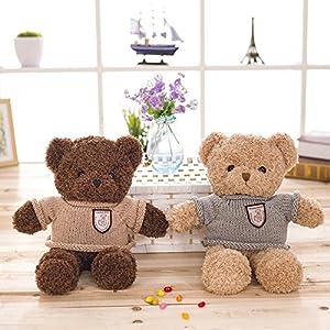 IKASA ぬいぐるみ 特大 くま テディベア 可愛い熊 動物 大きい くまぬいぐるみ 熊縫い包み クマ 抱き枕 お祝い ふわふわ  お人形 女の子 男の子 子供 女性 抱き枕 プレゼント ビッグサイズ (ブラウン、60cm)
