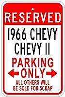 1966年66ChevyシボレーIIアルミニウム駐車場サイン 10 x 14 Inches