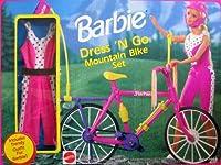 Barbie Dress 'N Go Mountain Bike Set w Trendy Fashion! (1991 Arco Toys, Mattel)