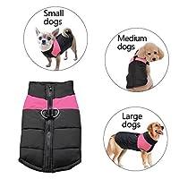 Didog寒い天気犬暖かいベストジャケットコート、小型中大型犬のためのペットの冬服、ピンク、5 XLサイズ