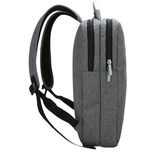 iHOVEN 男女兼用 ビジネス リュックサック backpack14~15.6インチのPC対応 タテ型 多機能 PCバッグ リュックバッグ A4サイズ対応 ラップトップバックパック 通勤 通学 出張 就活 旅行 手提げバッグ軽量 ノートPC iPad タブレット大容量収納(グレー)