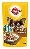 ペディグリー シニア犬 11歳から用 ビーフ&チキン&緑黄色野菜 130g×10個入り [ドッグフード・パウチ]