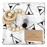 ZOO(ズー)出産祝い 男の子 女の子 木のおもちゃ おくるみ 誕生日 プレゼント 0歳 1歳 授乳ケープ プレイマット (テント)