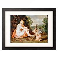 ピーテル・パウル・ルーベンス Peter Paul Rubens 「Venus und Cupido, sich warmend (Venus Frigida), 1610/20.」 額装アート作品