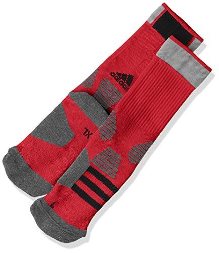 (アディダス)adidas バスケットボールウェア ID ソックス 1P LPC38 [ユニセックス] AO0516 パワーレッド/ダークグレイヘザー/ブラック 26-28cm