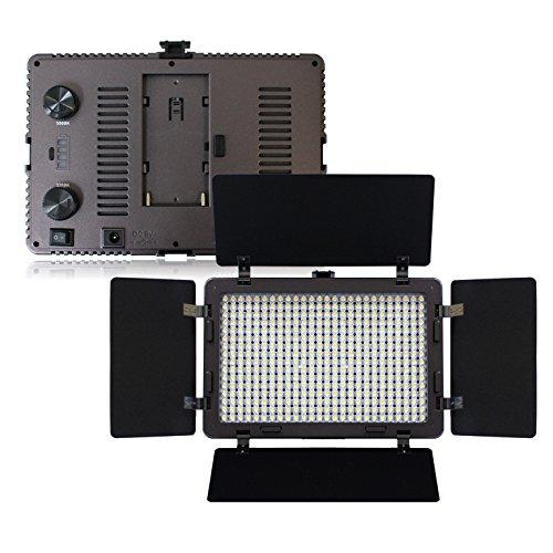 LOE(ロエ) 定常光ライト LED 410球 大光量 2000ルーメン 色温度調整機能 ACアダプター付 (410B)