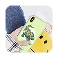 かわいい漫画恐竜Coqueシェル電話ケースIphone 8 7 6 6 sプラスX Xs最大5 5 s Se Xrカバー、iphone 7または8、A12
