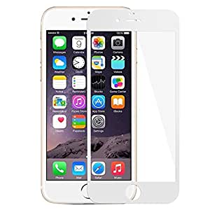 iphone 6 6s plus 強化ガラスフィルム 全面フルカバー 液晶保護 3Dラウンドエッジ加工 気泡ゼロ 耐衝撃 飛散防止 指紋防止加工 0.33mm 硬度9H(Iphone 6/6s plus, ホワイト)