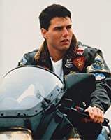 大きな写真「トップガン」バイクのトム・クルーズ、Top Gun