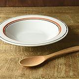 美濃焼 スノートンオレンジ 21.1cmスープ皿(アウトレット品)