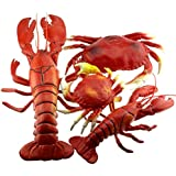 Gresorth 海洋動物コレクション偽の人工シミュレーションロブスターカニの飾り子供のおもちゃ