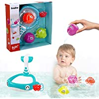 2016 Sealive Baby Bath Water Toy for Fish, Puzzle boxed Duck Toddler Soft Toys Bathtime Fishing Set with turtles,starfish, octopus,clownfish,for 3-48 months old baby using by Sealive