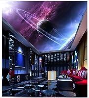 MzNmフォト壁紙3d天井壁画壁紙ファンタジーStarry Sky planettop Mural天井壁画壁装飾 Gsavba -50062