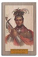 kiontwogky–Portrait of a Seneca chief 10 x 15 Wood Sign LANT-30674-10x15W
