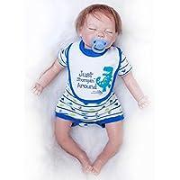 Rebornリアルな赤ちゃん人形男の子新生児シリコンReal Looking Baby GirlsギフトSleeping 22インチ
