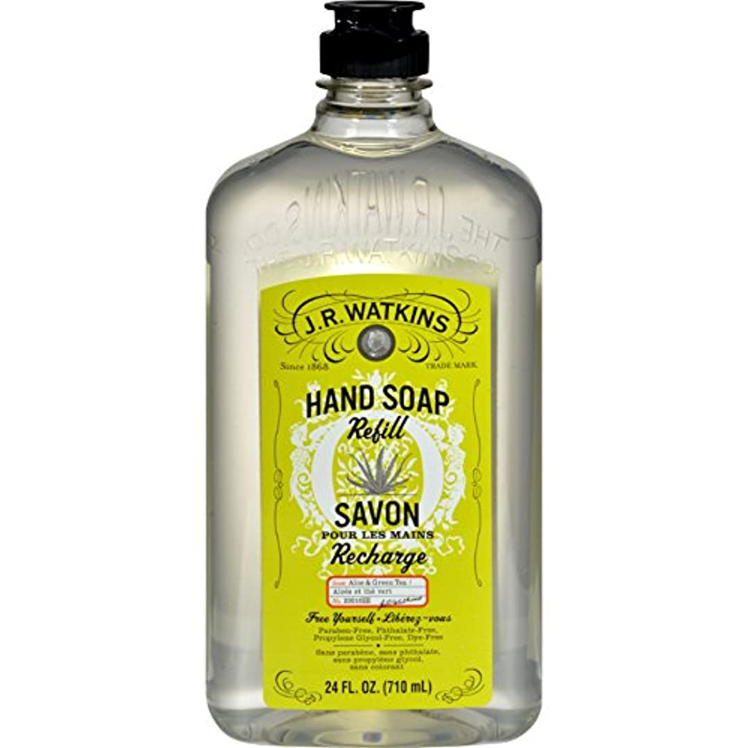 協力するラジカル論争的J.R. Watkins Liquid Hand Soap - Refill - Aloe and Green Tea - 24 fl oz