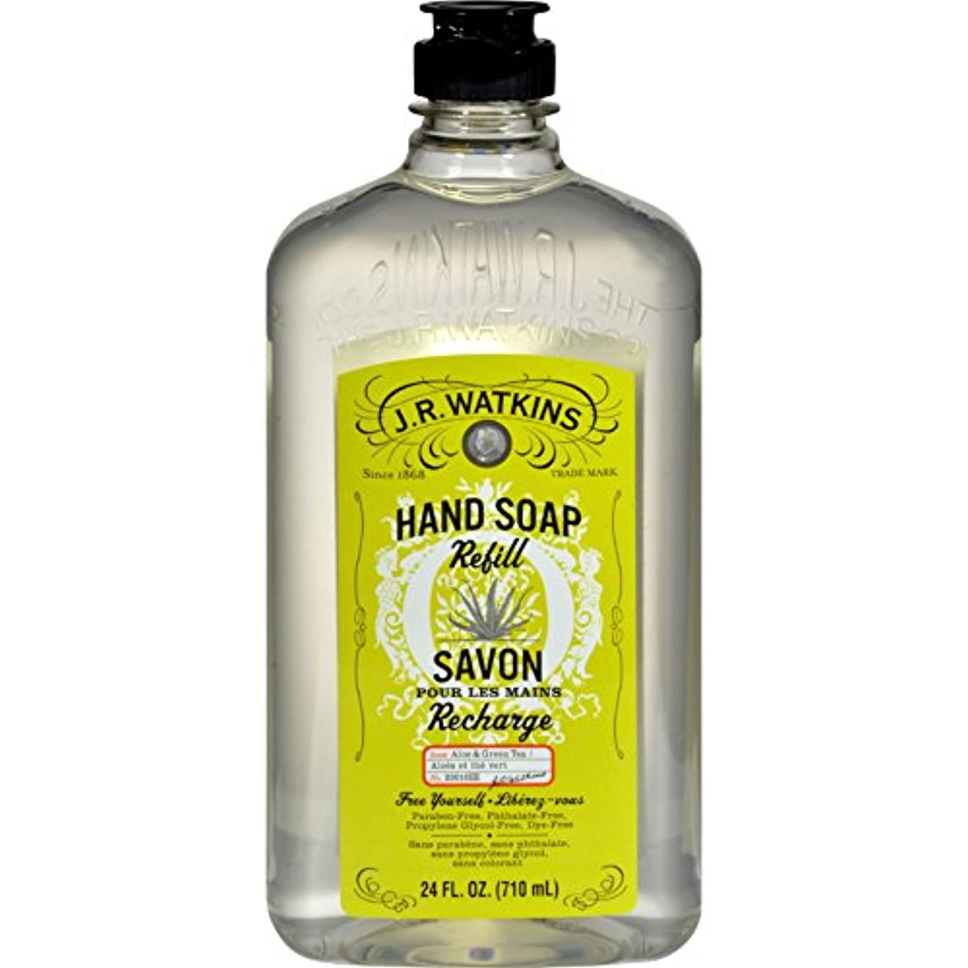 にはまってファイターシャッフルJ.R. Watkins Liquid Hand Soap - Refill - Aloe and Green Tea - 24 fl oz