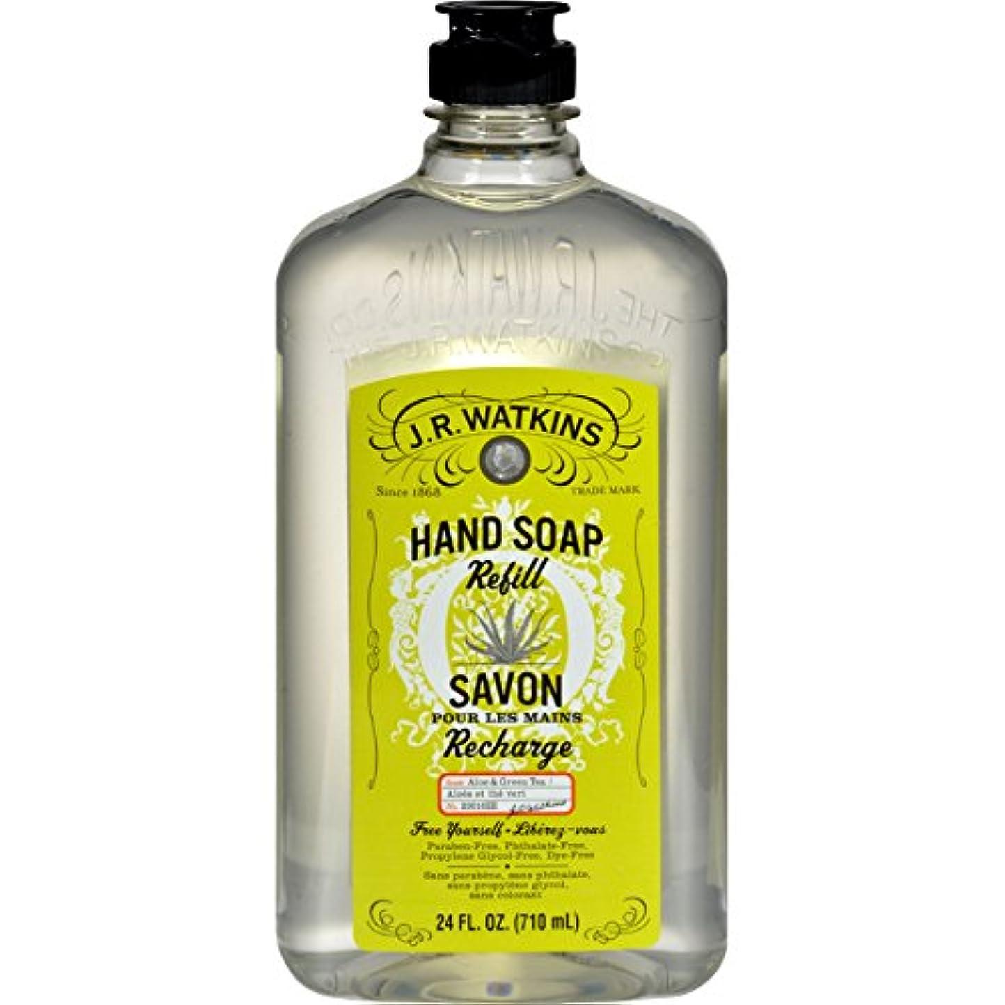 カスタム試すオーラルJ.R. Watkins Liquid Hand Soap - Refill - Aloe and Green Tea - 24 fl oz