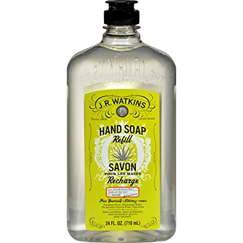 きつくランプ軽減するJ.R. Watkins Liquid Hand Soap - Refill - Aloe and Green Tea - 24 fl oz